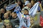 Utkání 50. kola Tipsport extraligy ledního hokeje se odehrálo 26. února 2017 v liberecké Home Credit areně. Utkaly se celky Bílí Tygři Liberec a HC Kometa Brno. Na snímku fanoušek Bílých Tygrů.