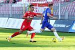 4. kolo FORTUNA:LIGY: FC Zbrojovka Brno (červená - Růsek) - SK Sigma Olomouc 2:4.