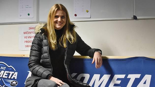 Lucie Šafářová je známou fanynkou Komety.