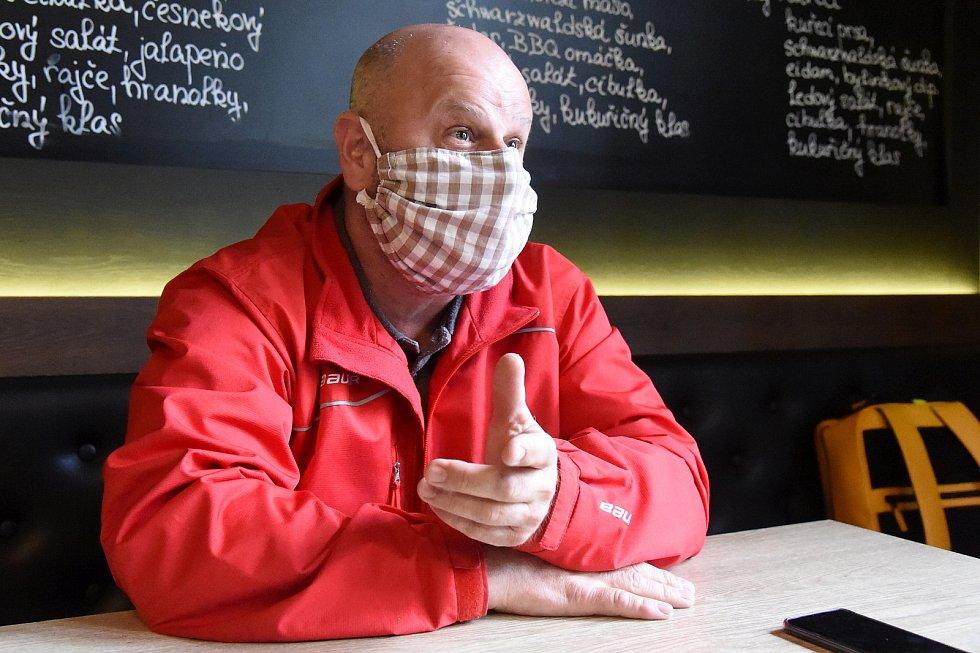 Pavel Podsedník, majitel brněnské restaurace Štatl na náměstí Svobody.