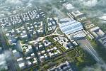 gmp International (Hamburk): East Railway Station, Nan-čchang, Čína. Vizualizace.