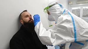 Antigenní odběrové centrum v Brně