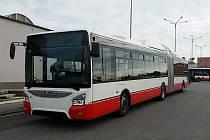 Autobus brněnského dopravního podniku.