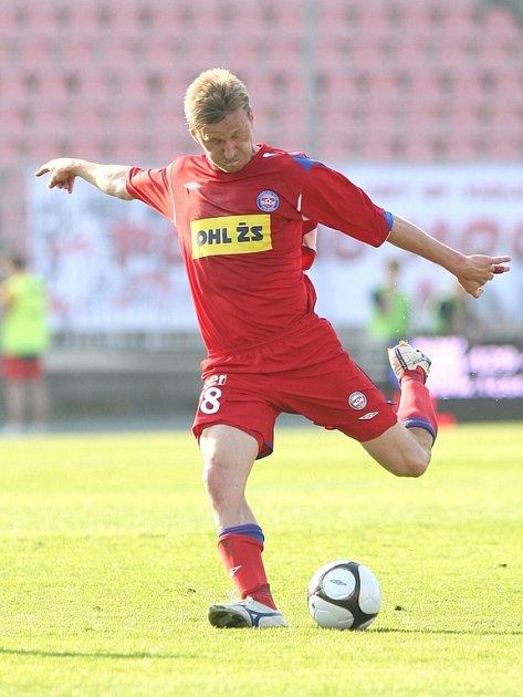 Útočník i záložník 1.FC Brno Marek Heinz.