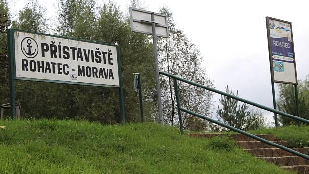 Přístaviště Rohatec bude nejbližší zastávkou pro lodě, které proplují novou plavební komorou na Baťově kanálu.