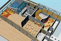 NEJZDAŘILEJŠÍ. Ředitelka školky ocenila návrh na přístavbu další budovy k vile od studentky Hany Kovářové.