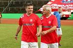 Za Lužánkami se v roce 2019 utkaly legendy Zbrojovky Brno a Sigmy Olomouc. Milan Pacanda debatoval s Janem Kopencem.