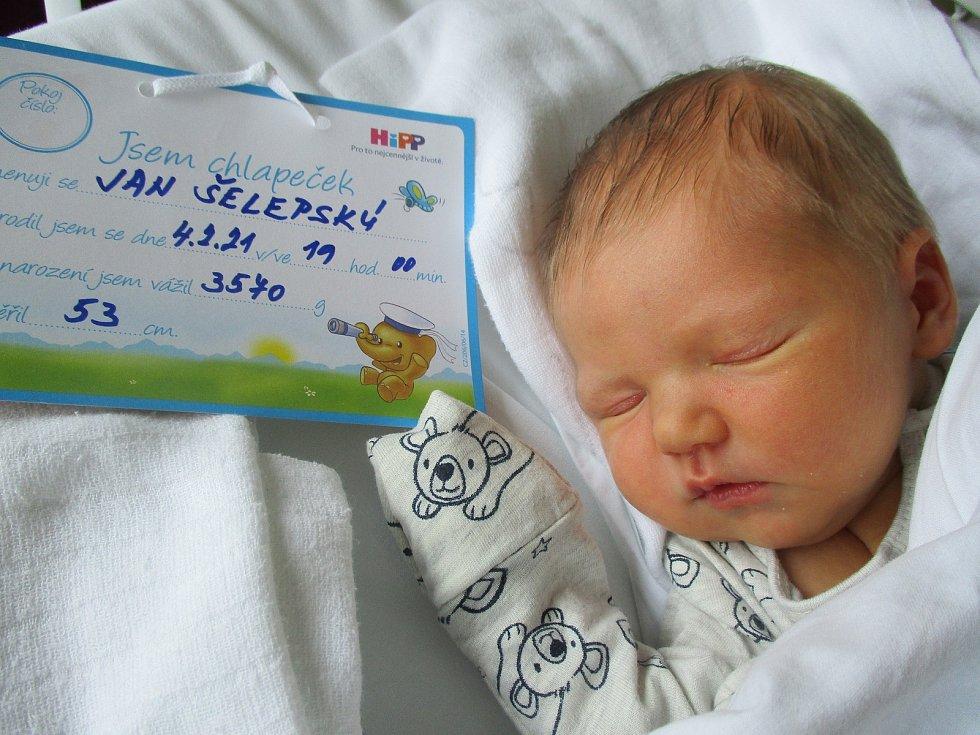 Jan Šelepský, 4. 2. 2021, Lanžhot, Nemocnice Břeclav, 3570 g, 53 cm
