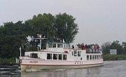Po Horní nádrže vodního díla Nové mlýny se bude plavit Munot. Loď vyrobená v roce 1936 ve Švýcarsku.