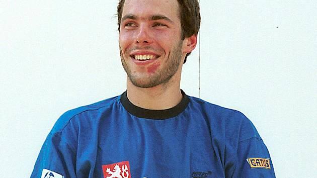 Travní lyžař Jan Němec.
