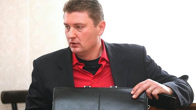 Michal Rylka u brněnského soudu.