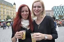 Slavnosti vína na brněnském náměstí Svobody.