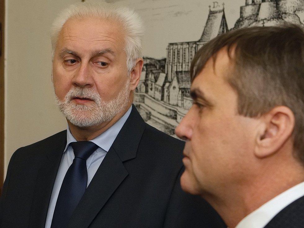 Jihomoravský hejtman Bohumil Šimek a bývalý brněnský primátor Petr Vokřál.