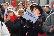 Demonstrace proti Andreji Babišovi v Brně.