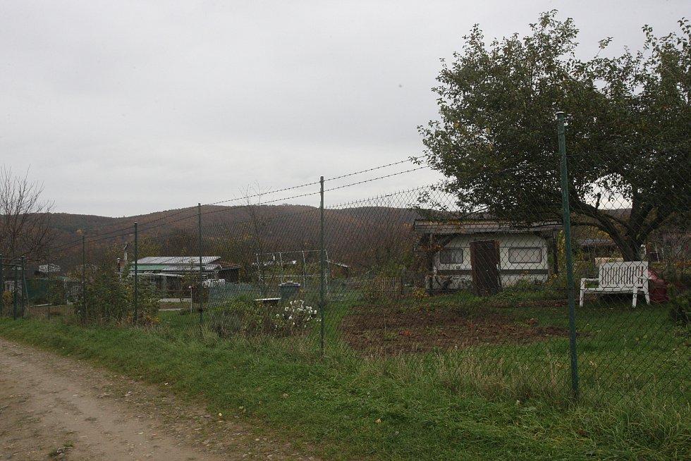 Zahrádkářská kolonie u Šťouračovy ulice v Bystrci.