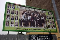Vítězné tablo z roku 2010 -  Gymnázium J.G.Mendela - Oktáva A.