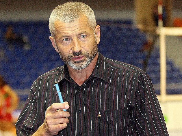 Trenér Jiří Šiller.