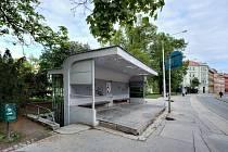 Funkcionalistická zastávka Obilní trh v Brně. Archivní snímek