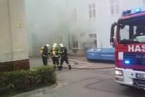 Požár na Veterinární a farmaceutické univerzitě v Brně.