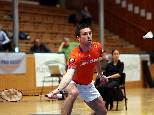 Badmintonista Sokola Veselý Jehnice Petr Koukal.