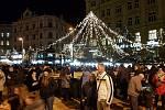 Rozsvícení vánočního stromu na náměstí Svobody v Brně.