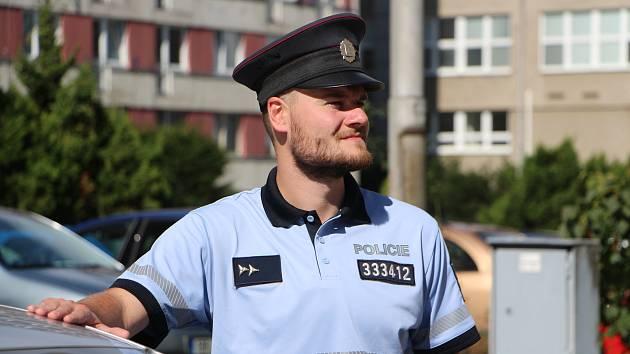 Student brněnské policejní školy Rudolf Častulík zachránil v brněnském Mariánském údolí topícího se muže.