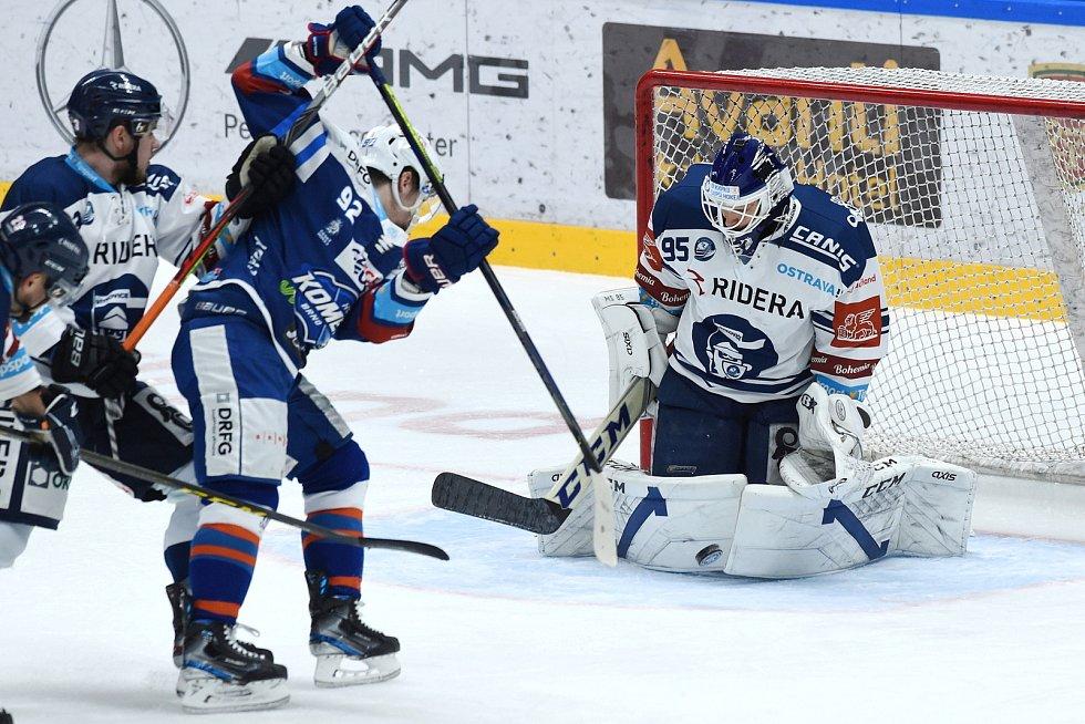 Brno 7.2.2021 - domácí HC Kometa Brno (modrá) proti HC Vítkovice Ridera