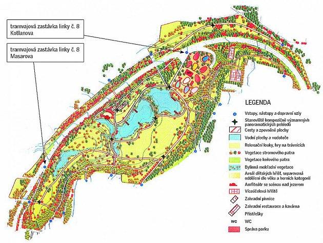 Park o velikosti dvanácti fotbalových hřišť chce vedení Líšně postavit u trati tramvajové linky číslo osm.