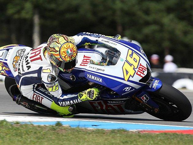 Italský motocyklový jezdec Valentino Rossi,