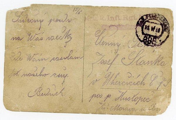 Válečná paměť - Bedřich Staněk.