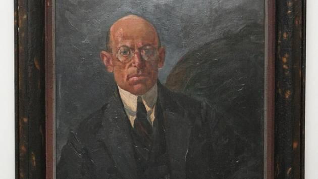 Těsnohlídka namaloval František Koudelka. Olejomalba byla naposledy vystavena před 26 lety.