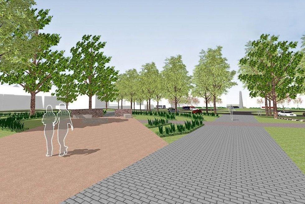 Připravovaná podoba brněnského Vaňkova náměstí.