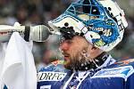 Utkání 50. kola Tipsport extraligy ledního hokeje se odehrálo 26. února 2017 v liberecké Home Credit areně. Utkaly se celky Bílí Tygři Liberec a HC Kometa Brno. Na snímku brankář Marek Čiliak.