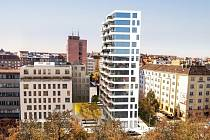 U lužáneckého parku roste nový mrakodrap. Ve výškové budově najde bydlení až pětadevadesát rodin.