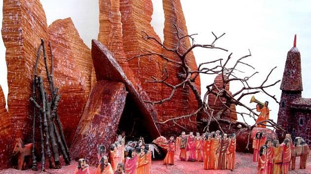 Výstava Betlémů u Kapucínů.