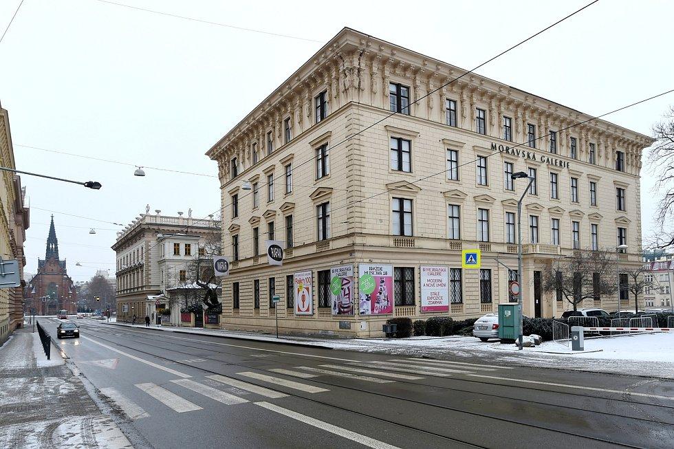 Pražákův palác v brněnské ulici Husova.