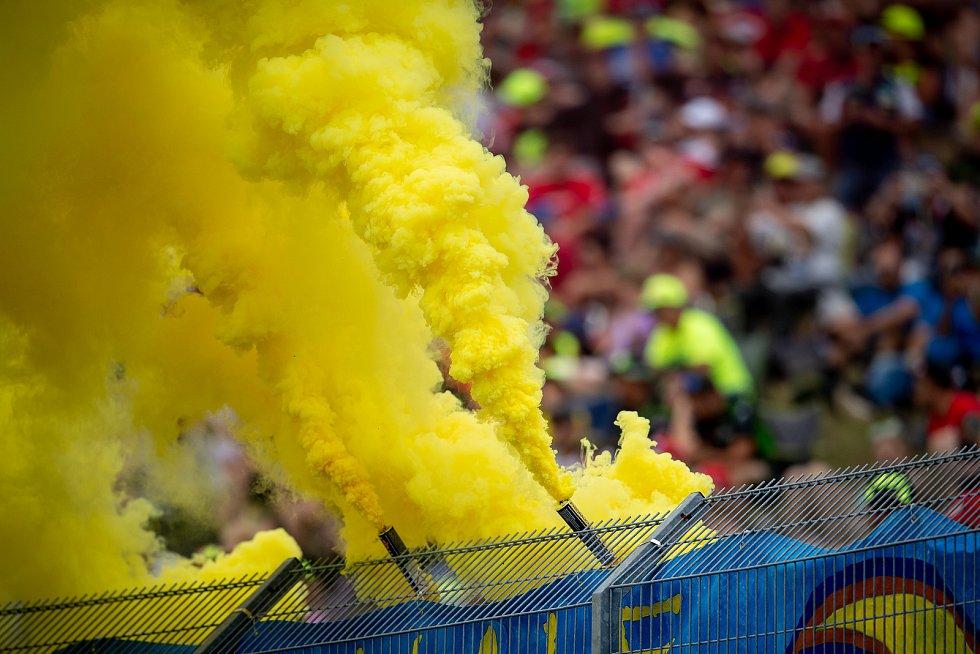 Finálový závod MotoGP Velká cena České republiky, závod mistrovství světa silničních motocyklů v Brně 4. srpna 2019.