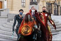 Petr Fiala jako jeden z Avengerů.
