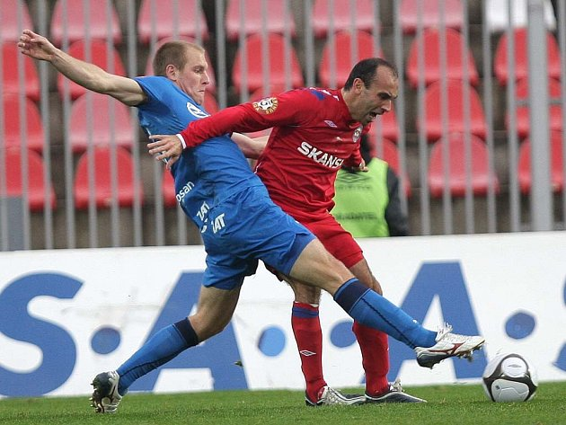 Fotbal - Brno - Plzeň - Daniel Kolář (Plzeň) - Tomáš Polách (Brno)