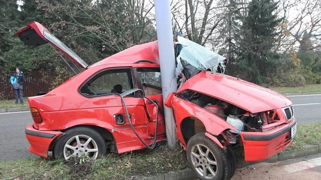 Nehoda na brněnské ulici Generála Píky.
