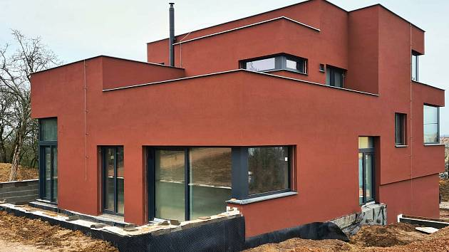 Nově vzniklé vilové domy na brněnském Červeném kopci.