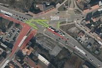 Ve středu začne první dopravní omezení kvůli výstavbě VMO Tomkovo náměstí a Rokytova, pro řidiče se zavře část Dukelské třídy přiléhající k náměstí.