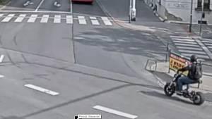 Jízda opilého muže na silné elektrokoloběžce brněnskými ulicemi.