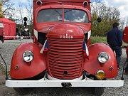 Historický hasičský vůz. Ilustrační foto.