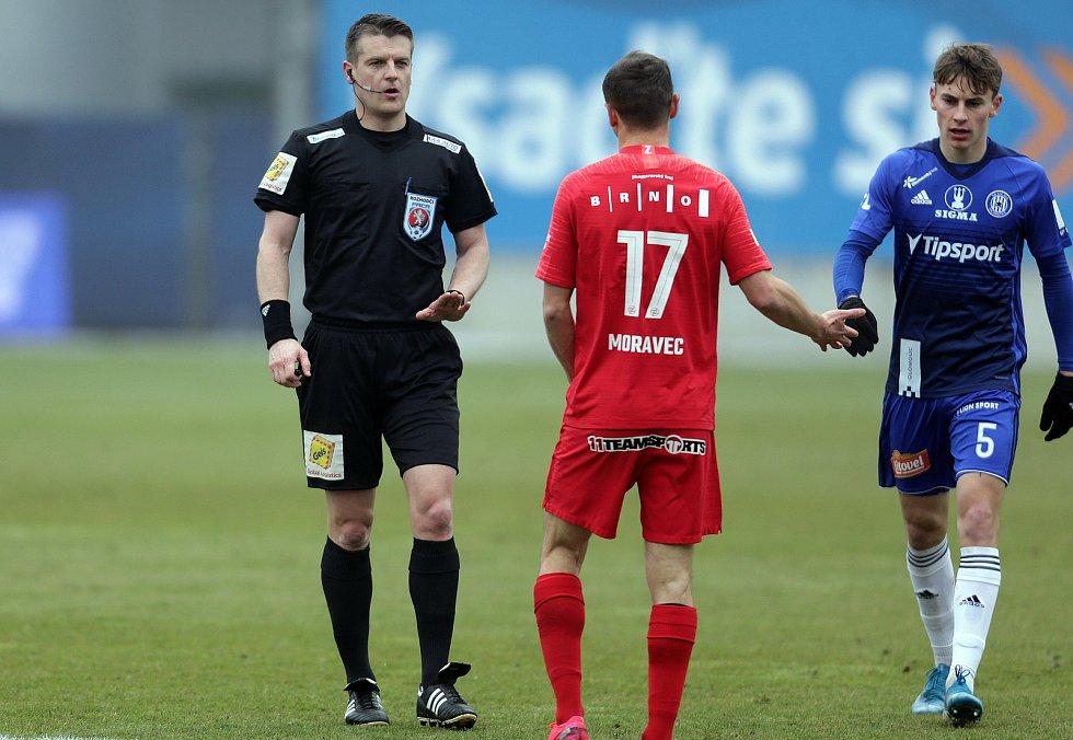 SK Sigma - FC Zbrojovka Brnorozhodčí Zbyněk Proske, Jan Moravec, Kryštof Daněk