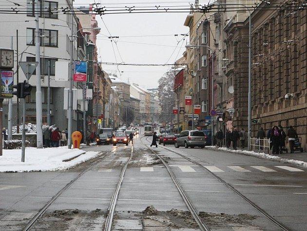 Brněnská ulice Veveří.