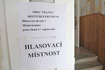 Referendum ve Vranově na Brněnsku.