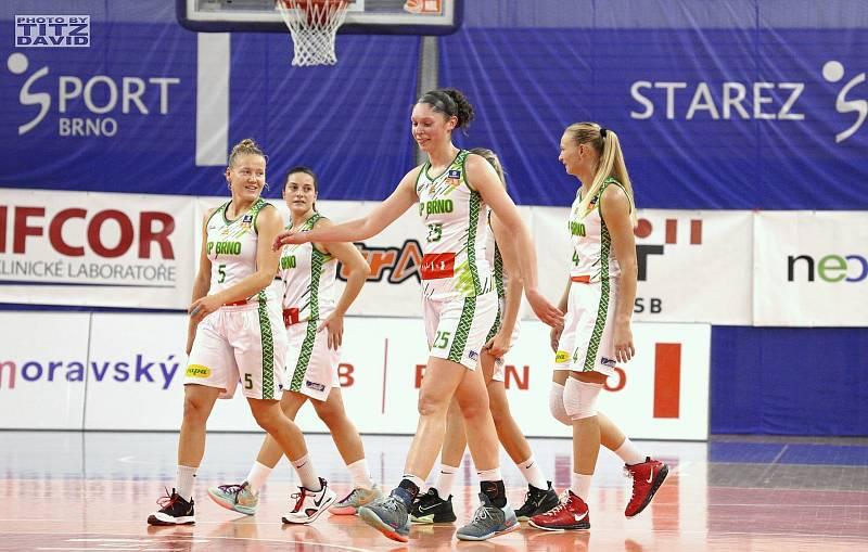 Basketbalistky KP Brno mají v této ligové sezoně po třech zápasech stoprocentní bilanci. Foto: David Titz