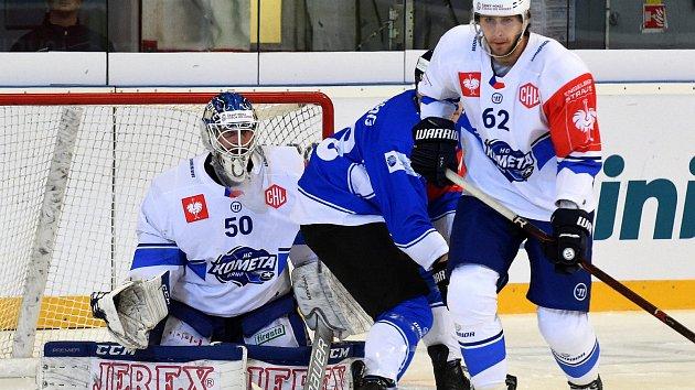 Zápas Ligy mistrů mezi Kometou Brno a EV Zug ze Švýcarska.