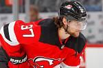 Hokejový útočník Pavel Zacha v dresu New Jersey Devils